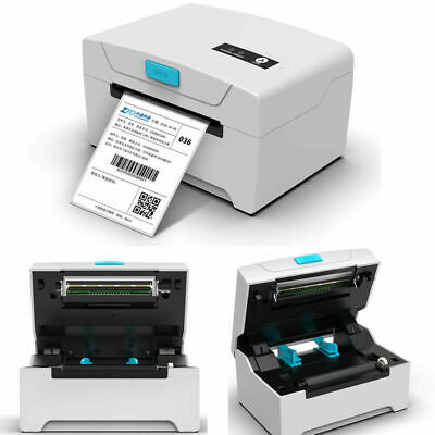 White 80mm Thermal Label Printer Continuous Paper Barcode Printing Machine GB • 61.59£
