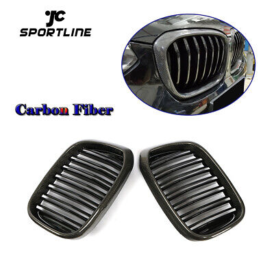 AU193.55 • Buy For BMW X3 G01 X4 G02 18-19 Front Kidney Grille Grill Glossy Black 2PCS Carbon