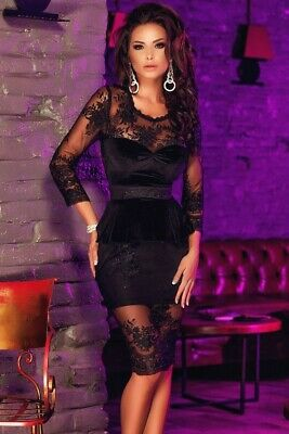 £49 • Buy Magnificent Elegant Long Sleeve Evening Party Dress(Size: 8, 10)