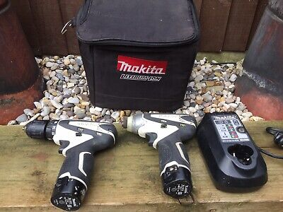 Makita 10.8v Combi Drill Set With 2 Batteries And Charger And Carry Case • 70£