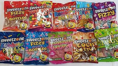Sweetzone 90g  Sweets Bags Halal Retro Pick N Mix Candy Cart Treat Party Favour • 1.99£