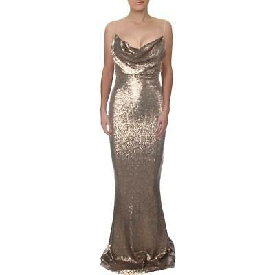 AU58.11 • Buy Nookie Womens Bronze Sequined Special Occasion Evening Dress Gown S  4481