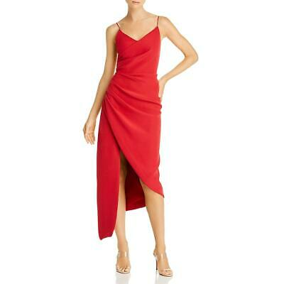 AU32.28 • Buy Keepsake Womens Red Woven Pleated Special Occasion Midi Dress M  9221