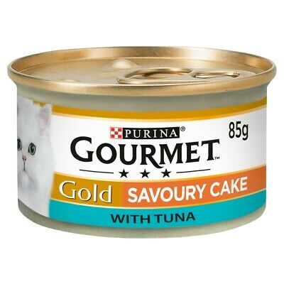 Gourmet Gold Savoury Cake With Tuna Wet Cat Food Tins - 12 X 85g • 7.95£