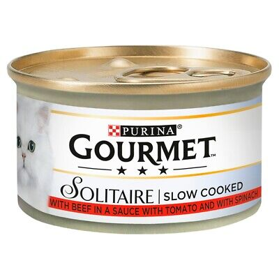Gourmet Solitaire Beef & Tomato 12Pack Cat Food - 85G • 7.98£
