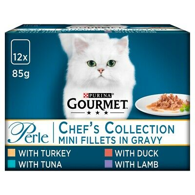 Gourmet Perle Pouch Chef Selection Wet Cat Food Pouches - 12 X 85G • 6.64£