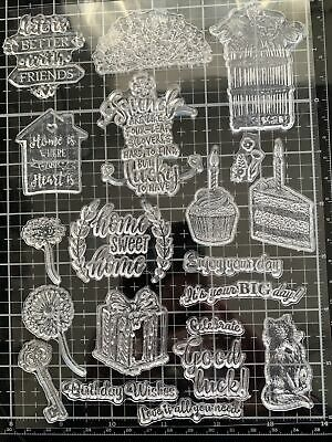 20 Piece Clear Stamp Set Incl. Home-based And Friends • 4.20£