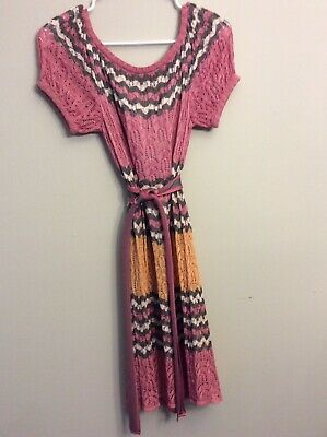 AU38.75 • Buy Missoni Italy Vintage Knit Sweater Dress Sz S Estate Find