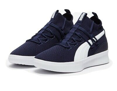 Puma Clyde Court Basketball Trainers In Peacoat- Breathable Knitted Upper Size 6 • 15£