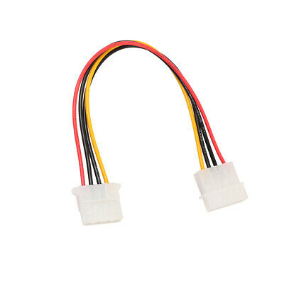 IDE 4Pin Male To Female Internal Power Supply Extension Adapter Cable Cord • 2.32£