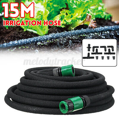 15m Micro Automatic Drip Irrigation System Kit Plant Watering Connector Hose • 15.67£