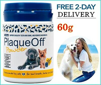 Plaque Off For DOGS CATS Teeth REMOVE PLAQUE / Tartar & Bad Breath • 14.39£
