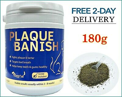 Natural Plaque Remover For DOGS CATS Teeth REMOVE PLAQUE / Tartar & Bad Breath • 12.50£