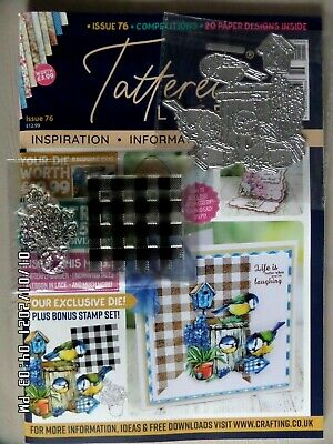 Tattered Lace Magazine ISSUE 76 + Spring Die Birdhouse & Stamps + Papers NEW • 4.95£