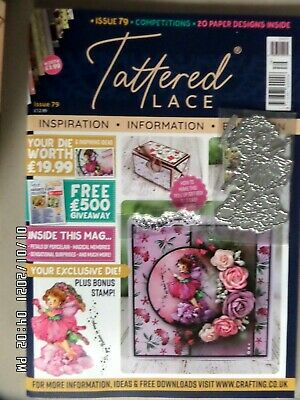 Tattered Lace Magazine ISSUE 79+ Die & Stamps+ Papers Inspirational Magazine NEW • 4.95£