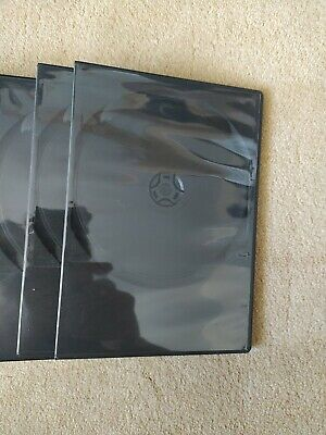 £5 • Buy 10 Black Blank Empty Used DVD Cases Approx 5×7 Inches