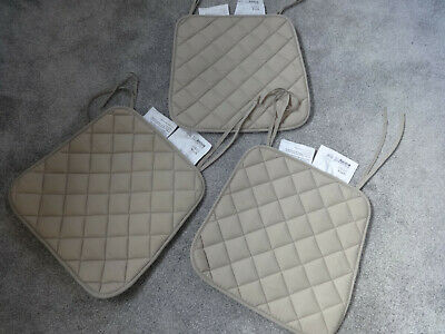 Ikea Sitta (Quilted Cushion Pad) - Beige X 3 With Ties • 1.50£