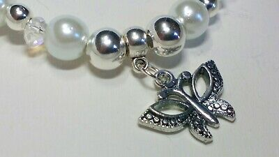 Handmade Butterfly Stretch Bracelet  • 4.75£