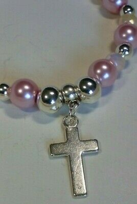 Handmade Silver Plated Cross Stretch Bracelet  • 4.75£