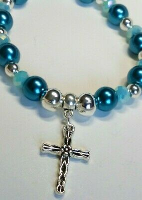 Handmade Tibetan Silver Cross Stretch Bracelet  • 4.75£