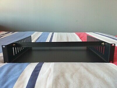 Audio Equipment Rack Tray With Adjustable Clamps 2U 19  • 14.99£