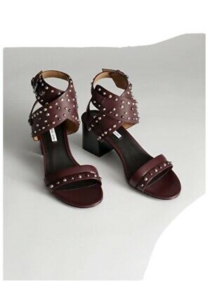 And Other Stories Burgundy Studded Sandals Size 7 • 9.99£