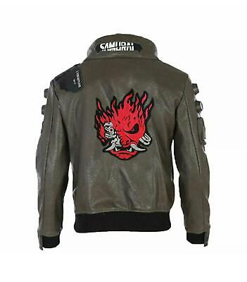 $ CDN122.73 • Buy Cyberpunk 2077 Cosplay Costume Jacket Mens Faux Brown Leather Embroidery Coat