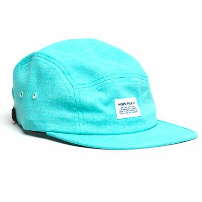 £29.99 • Buy Norse Projects Linen 5-panel Strapback Cap - Mint Teal 6-panel Hat