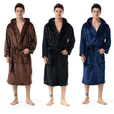 AU48.79 • Buy Men Snuggle Dressing Gown Robes Extra Long Super Soft Cuddly Bathrobe Gowns