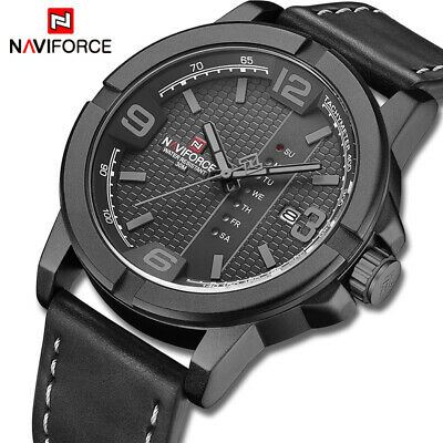 $ CDN0.01 • Buy Men's NAVIFORCE Watch For Men Top Brand Casual Quartz Waterproof Wristwatch