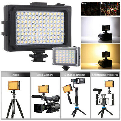 96LED Dimmable  Video Light Photo Camera Hot Shoe LED Lamp For Camcorder DV 120° • 12.99£