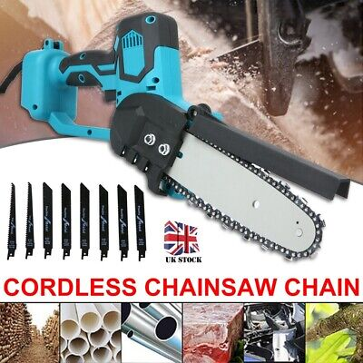 Blue Electric Cordless Chainsaw Chain Saw Garden Cutting Tool For Makita Battery • 57.99£
