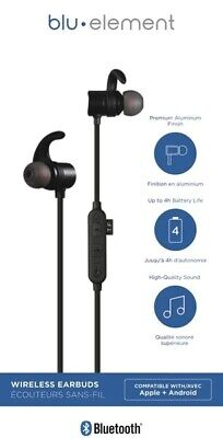 $ CDN19.99 • Buy Blu.Element Bluetooh Wireless Earbuds, Apple & Android Compatible (Brand New)