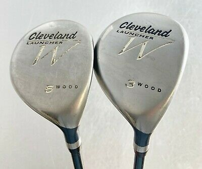 AU19.37 • Buy CLEVELAND GOLF Launcher 3 & 5 Fairway Wood 2 Clubs Woods Ladies Flex Right Hand