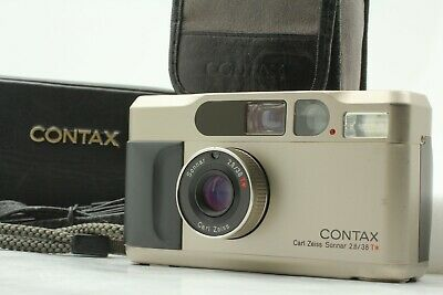 $ CDN1204 • Buy [N MINT] Contax T2 Titan Chome 35mm Point & Shoot Camera W/ Strap Hard Case JPN