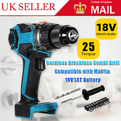 520NM Cordless Combi Drill Impact Driver Screwdriver Hammer For Makita Battery • 36.99£
