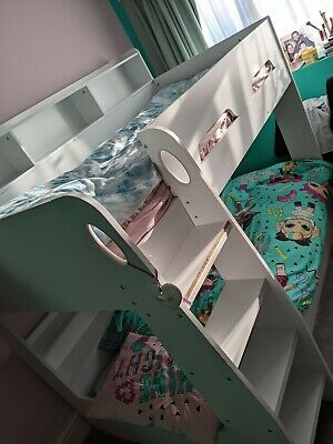 Bunk Bed Ladder Shelf Girls Boys Bed Frame Single • 200£