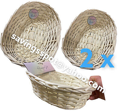 £5.99 • Buy 2 X Valentine Day Christmas Easter Hamper Basket  Make Your Own Craft Gift Box