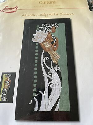 Lanarte African Lady With Flowers Cross Stitch Kit • 23£