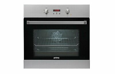 £227.49 • Buy Prima PRSO104 Built In Single Fan Oven Kitchen Stainless Steel Food Cooker Cook