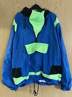 Shell Suit Jacket Blue & Green Size L • 3.80£