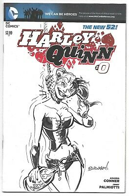 $ CDN126.07 • Buy Harley Quinn 0 Blank Cover Signed & Sketched By Chris Burnham Autographed DC
