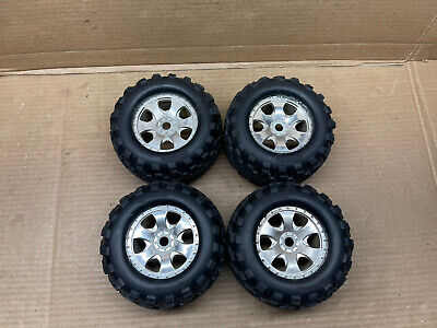 Hpi Savage Flux 1/8 Scale Tires/Wheels Set Of 4 Rc Part #5132 • 32.55£