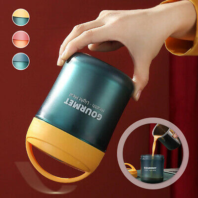 AU21.46 • Buy Portable Thermos Food Flask 500ml Stainless Steel Vacuum Insulated Soup Jar Hot