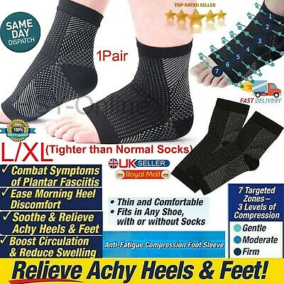 £2.89 • Buy 2 X Foot Compression Planter Socks Fasciitis Foot Arch Support Pain Ankle Relief