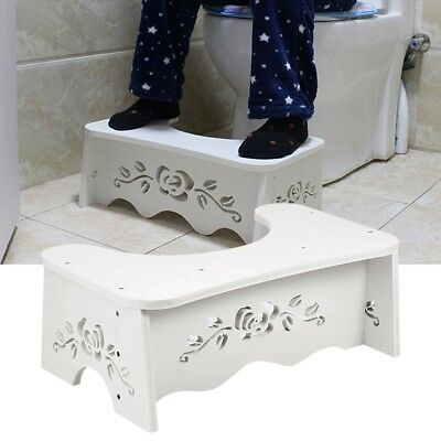 £6.59 • Buy MDF Toilet Squatty Step Stool Bathroom Potty Squat Aid For Constipation Relief