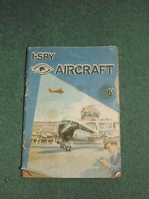 VINTAGE 1964 I-SPY AIRCRAFT BOOK 6d - Not Good Condition • 0.99£