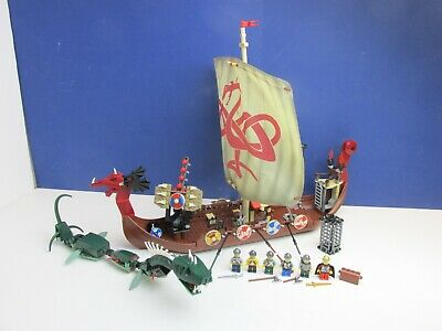 £160.56 • Buy COMPLETE Lego 7018 Set VIKINGS SHIP Challenges The Midguard Serpent LONG BOAT