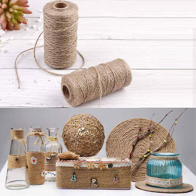 100Meters Natural Dry Twine Cord Jute Twine Rope Thread For DIY-Decor Toy CDDZ • 2.54£