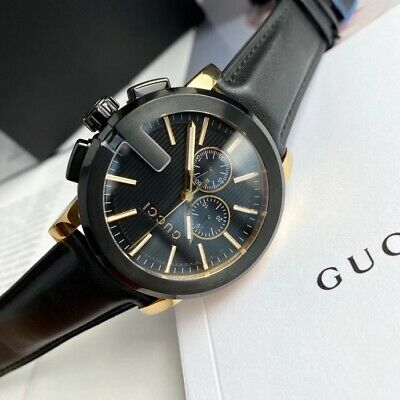 AU394.93 • Buy Gucci Gucci G - Chrono Collection Black Mens Watch Model: YA101203